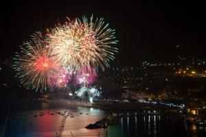 Fuochi d'artificio, Festino Santa Rosalia, Palermo